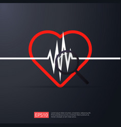 heart cardiology heartbeat or beat pulse search vector image