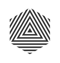 hexagon geometric logo stripe cube tile vector image