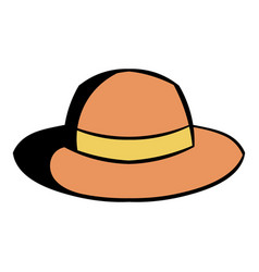 hipster hat icon cartoon vector image