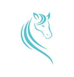 Horse head logo design vector