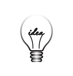 Idea symbol light lamp sign icon vector