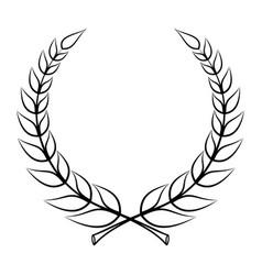 laurel wreath graphics vector image