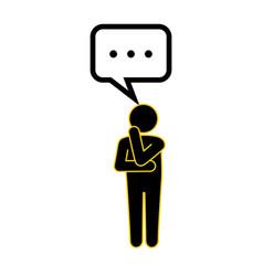 man thinking icon vector image