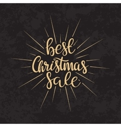 Merry Christmas sale text Calligraphic vector