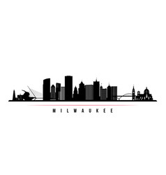 milwaukee skyline horizontal banner vector image