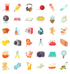 Mitten icons set cartoon style vector