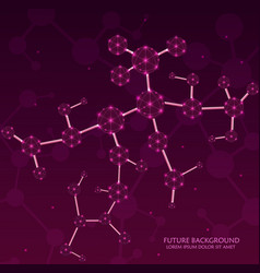 molecules background concept of system vector image