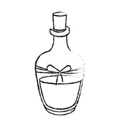 monochrome blurred silhouette of bottle with oil vector image