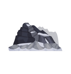 mountains outdoor design element nature vector image