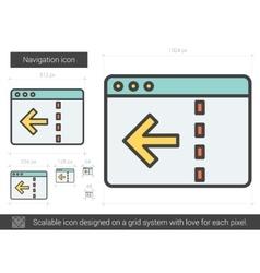 Navigation line icon vector