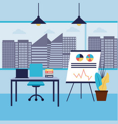 office workplace interior vector image