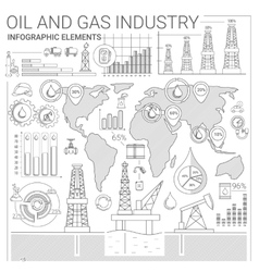 Oil and Gas Industry Infographic Elements vector