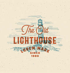 old lighthouse abstract sign symbol or vector image