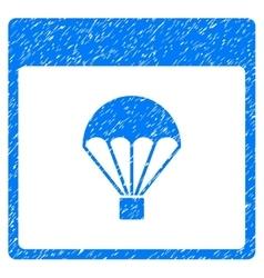 Parachute Calendar Page Grainy Texture Icon vector image