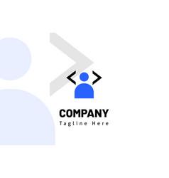 People avatar web code logo template vector