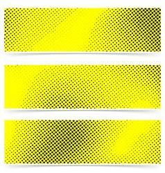 Pop art dot web yellow banner collection vector