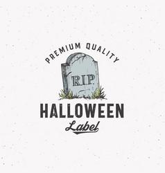 Premium vintage style halloween logo or label vector