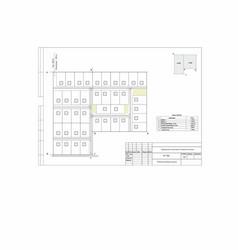Project plan cottage settlement vector
