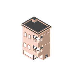 Property building with balconies isometric style vector