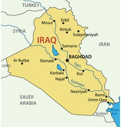Republic of Iraq - map vector image