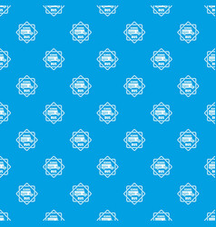 School bus pattern seamless blue vector