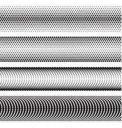 seamless halftone dots effect borders vector image