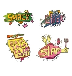 Set of comic cartoox exclamations vector