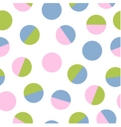 Simple seamless pattern with circle vector