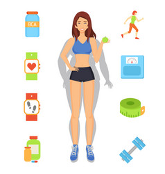 Sport and diet weight loss vector