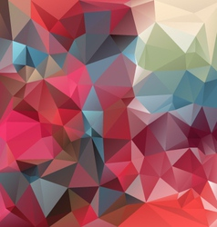 strawberry red polygonal triangular pattern vector image