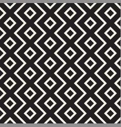 stylish lines lattice ethnic monochrome texture vector image