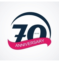 Template Logo 70 Anniversary vector