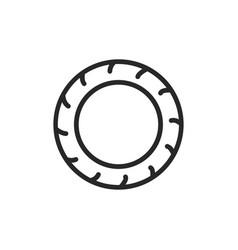 tire icon vector image