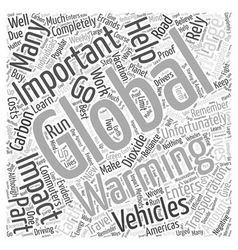 Transportation and its impact on global warming vector