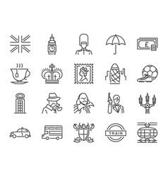 United kingdom icon set vector