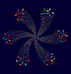 Usb flash drive twirl abstract flower vector