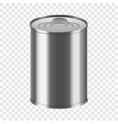 Vegetable tin can mockup realistic style vector