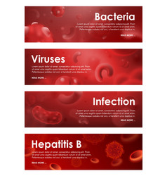Viruses bacterial infections and blood diseases vector