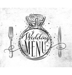 Wedding menu vector