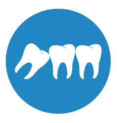 Wisdom tooth icon or third molar vector