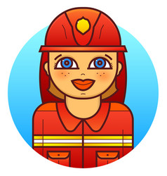 Woman firefighter vector