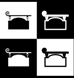 wrought iron sign for old-fashioned design vector image