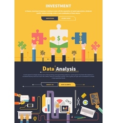 Analyzing and Investment Concept vector image vector image