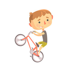 boy bike rider kids future dream professional vector image vector image