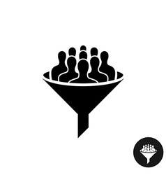 Crowdfunding icon Crowd of people silhouette with vector image vector image