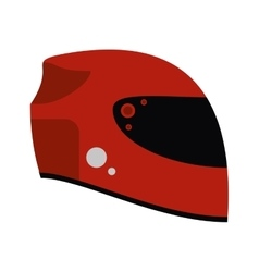 Isolated helmet of formula racing concept vector