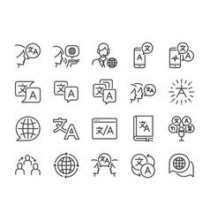 Translation icon set vector