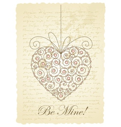 vintage love card vector image vector image