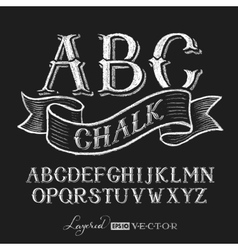 Alphabet hand drawn on chalkboard vector image vector image