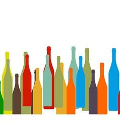 bottle on background vector image vector image